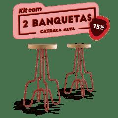 Kit 2 Banquetas Alta Terracota Catraca