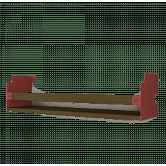 Prateleira INCwall Vermelha 40x10cm
